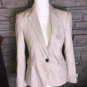 Zara Basic Blazer Tan Med